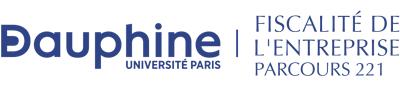 Master 221 Fiscalité de l'Entreprise - Paris-Dauphine